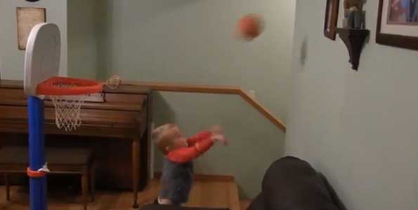 Titus is a two-year-old basketball player